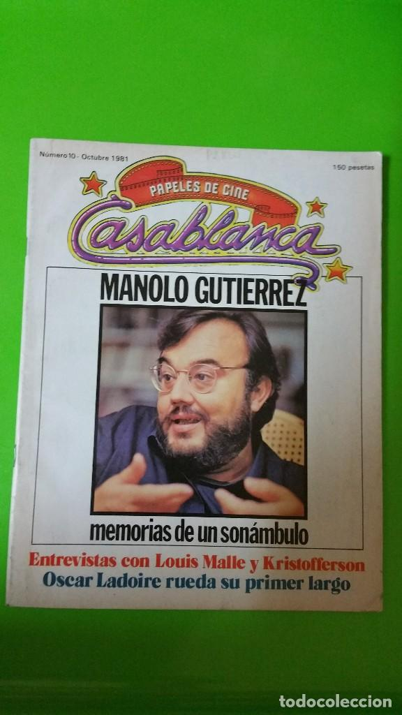 CASABLANCA Nº 10 DE OCTUBRE DE 1981 CON LOUIS MALLE, KRIS KRISTOFFERSON, ÖSCAR LADOIRE, ETC (Cine - Revistas - Papeles de cine)