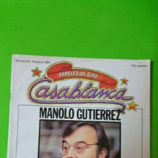 Cine: CASABLANCA Nº 10 DE OCTUBRE DE 1981 CON LOUIS MALLE, KRIS KRISTOFFERSON, ÖSCAR LADOIRE, ETC. Lote 72769663