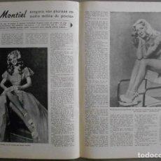 Cine: XL53 SARA MONTIEL REVISTA ESPAÑOLA IMAGENES DICIEMBRE DE 1945. Lote 73304415