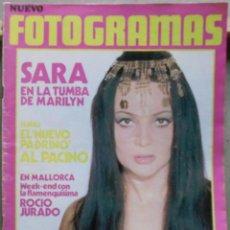 Cine: XL59 SARA MONTIEL REVISTA ESPAÑOLA FOTOGRAMAS NOVIEMBRE 1972. Lote 73319571