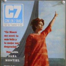 Cine: XL74 SARA MONTIEL REVISTA ESPAÑOLA CINE EN 7 DIAS AGOSTO 1969. Lote 73381935