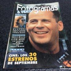 Cinéma: FOTOGRAMAS Nº 1777 SEPTIEMBRE 1991 BRUCE WILLIS. DEMI MOORE.. Lote 73435135