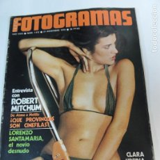 Cinema: NUEVO FOTOGRAMAS Nº 1472 DICIEMBRE 1976 - CLARA URBINA (PORTADA) ROBERT MITCHUM LORENZO SANTAMARIA. Lote 73490891
