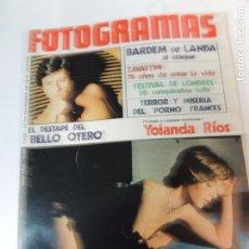 Cinema: NUEVO FOTOGRAMAS Nº 1470 DICIEMBRE 1976 - YOLANDA RIOS (PORTADA) MANOLO OTERO JUAN ANTONIO BARDEM. Lote 73491539