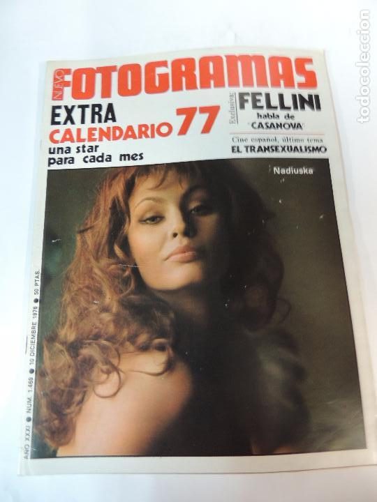 NUEVO FOTOGRAMAS Nº 1469 DICIEMBRE 1976 - NADIUSKA (PORTADA) FELLINI MARTY FELDMAN CALENDARIO 1977 (Cine - Revistas - Fotogramas)