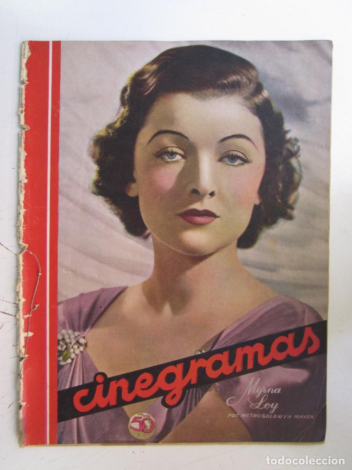 REVISTA CINEGRAMAS NUMERO 78. AÑO 1936. MYRNA LOY (Cine - Revistas - Cinegramas)