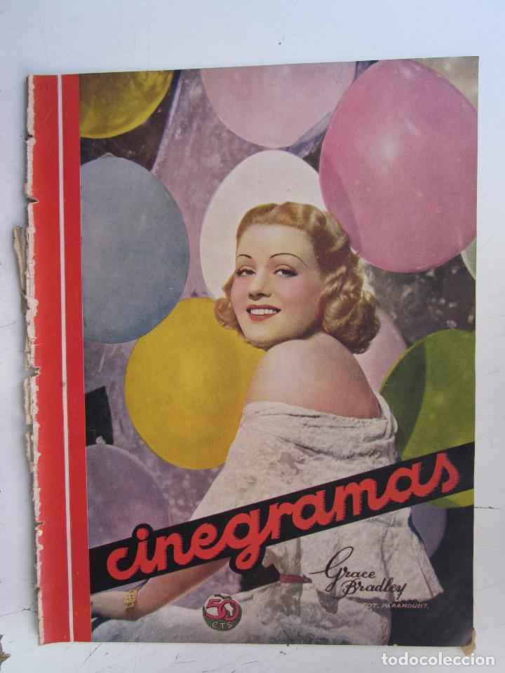 REVISTA CINEGRAMAS NUMERO 79. AÑO 1936. GRACE BRADLEY (Cine - Revistas - Cinegramas)