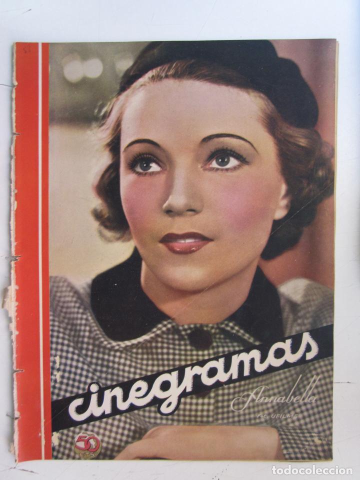 REVISTA CINEGRAMAS NUMERO 88. AÑO 1936. ANNABELLA (Cine - Revistas - Cinegramas)