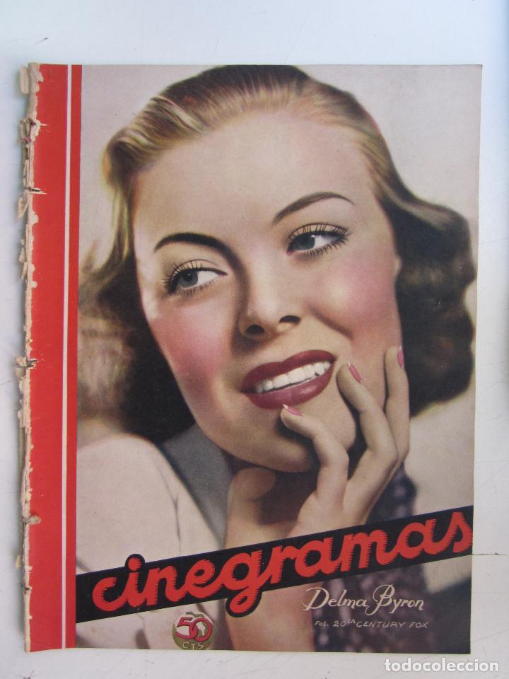 REVISTA CINEGRAMAS NUMERO 89. AÑO 1936. DELMA BYRON (Cine - Revistas - Cinegramas)