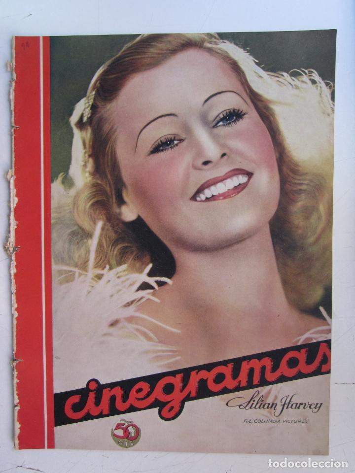 REVISTA CINEGRAMAS NUMERO 92. AÑO 1936. LILIAN HARVEY (Cine - Revistas - Cinegramas)