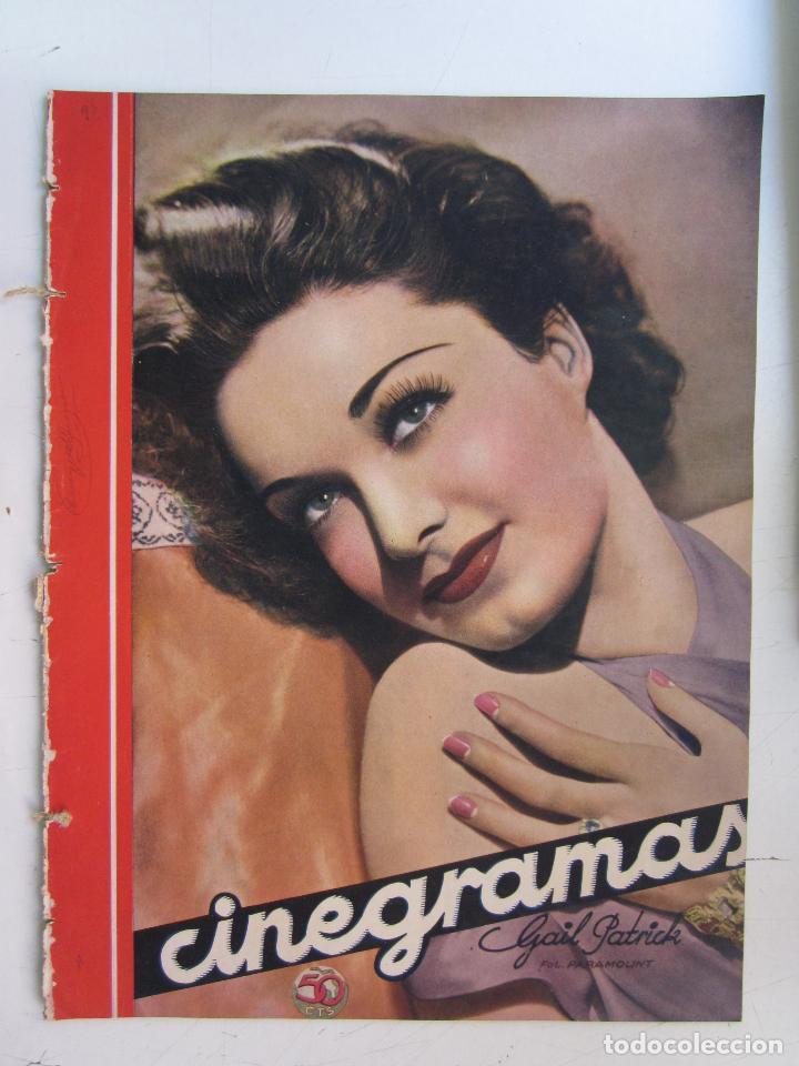 REVISTA CINEGRAMAS NUMERO 95. AÑO 1936. GAIL PATRICK (Cine - Revistas - Cinegramas)