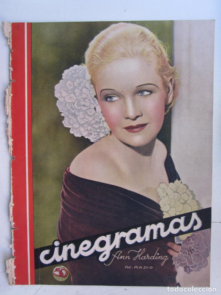 REVISTA CINEGRAMAS NUMERO 97. AÑO 1936. ANN HARDING (Cine - Revistas - Cinegramas)