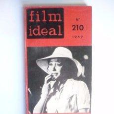 Cine: FILM IDEAL. AÑO. 1.969. LOTE DE 2. LIBROS, Nº 208 - 210.. Lote 74365931