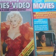 Cine: REVISTA DOLLY PARTON PHOTOPLAY MAGAZINE SEX SIN CINEMA 1982 1985 AMADEUS RHINESTONE MITCHUM NO DVD. Lote 75104334