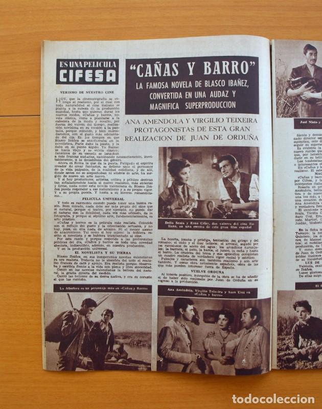 Cine: Radiocinema - Nº 210, 31 de Julio 1954 - Portada Pier Angeli, contraportada Gary Grant - Foto 5 - 75276547