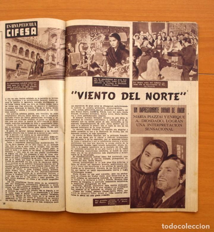 Cine: Radiocinema - Nº 210, 31 de Julio 1954 - Portada Pier Angeli, contraportada Gary Grant - Foto 7 - 75276547