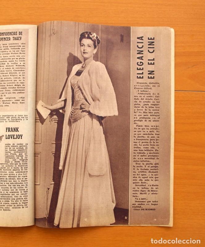 Cine: Radiocinema - Nº 210, 31 de Julio 1954 - Portada Pier Angeli, contraportada Gary Grant - Foto 8 - 75276547
