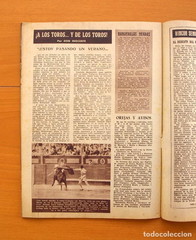 Cine: Radiocinema - Nº 210, 31 de Julio 1954 - Portada Pier Angeli, contraportada Gary Grant - Foto 9 - 75276547