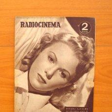 Cine: RADIOCINEMA - Nº 217, 18 DE SEPTIEMBRE 1954 - PORTADA SUSANA CANALES, CONTRAPORTADA ROBERT TAYLOR . Lote 75276879
