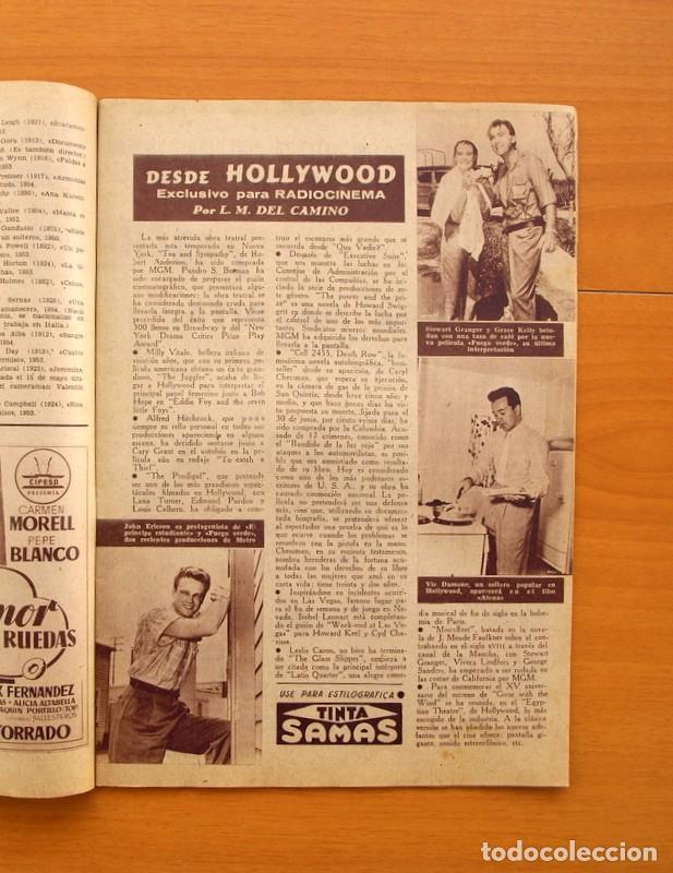 Cine: Radiocinema - Nº 217, 18 de Septiembre 1954 - Portada Susana Canales, contraportada Robert Taylor - Foto 3 - 75276879