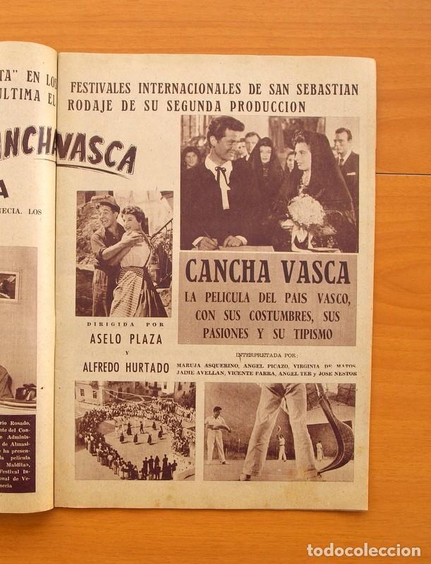 Cine: Radiocinema - Nº 217, 18 de Septiembre 1954 - Portada Susana Canales, contraportada Robert Taylor - Foto 4 - 75276879