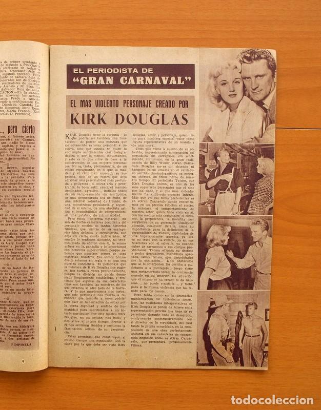 Cine: Radiocinema - Nº 217, 18 de Septiembre 1954 - Portada Susana Canales, contraportada Robert Taylor - Foto 5 - 75276879