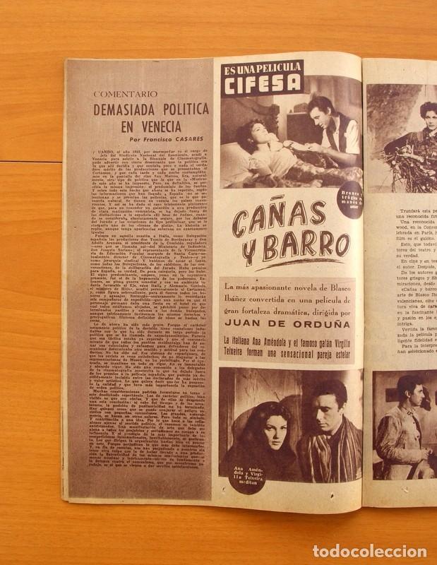 Cine: Radiocinema - Nº 217, 18 de Septiembre 1954 - Portada Susana Canales, contraportada Robert Taylor - Foto 7 - 75276879