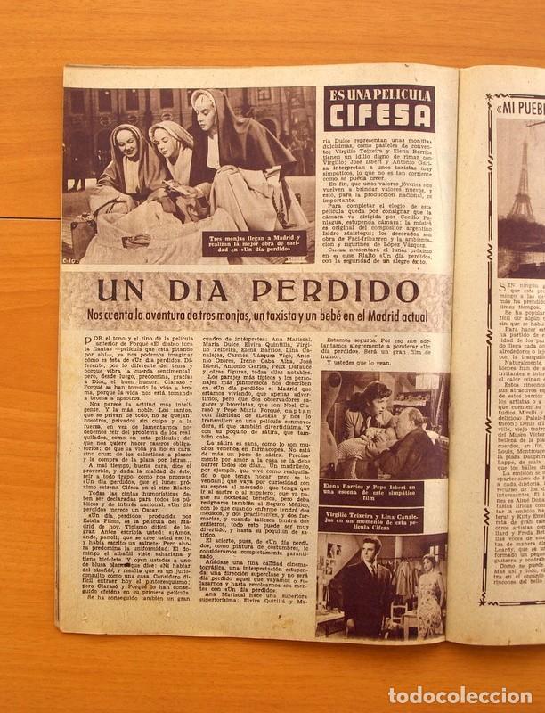 Cine: Radiocinema - Nº 217, 18 de Septiembre 1954 - Portada Susana Canales, contraportada Robert Taylor - Foto 9 - 75276879