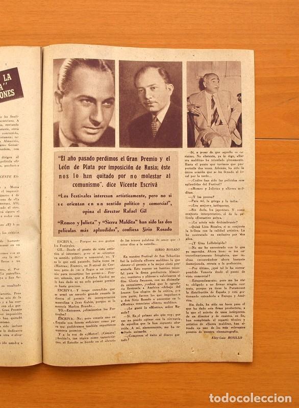 Cine: Radiocinema - Nº 217, 18 de Septiembre 1954 - Portada Susana Canales, contraportada Robert Taylor - Foto 10 - 75276879