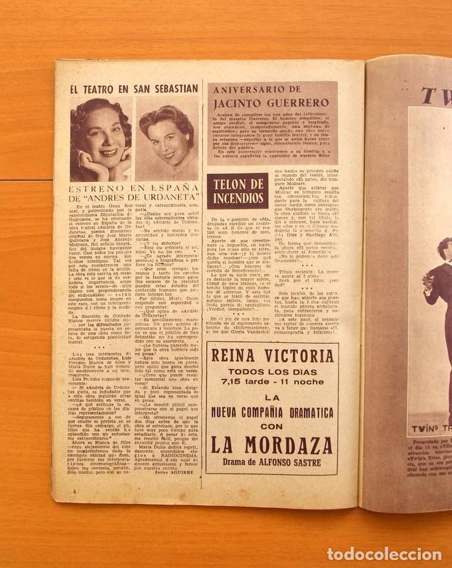 Cine: Radiocinema - Nº 217, 18 de Septiembre 1954 - Portada Susana Canales, contraportada Robert Taylor - Foto 11 - 75276879