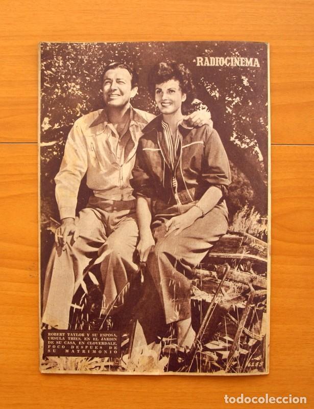 Cine: Radiocinema - Nº 217, 18 de Septiembre 1954 - Portada Susana Canales, contraportada Robert Taylor - Foto 15 - 75276879