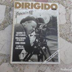 Cine: DIRIGIDO POR Nº 100, HAMMETT / WIMWENDERS, HOLLYWOOD EN SILENCIO,KING VIDOR. Lote 125395199