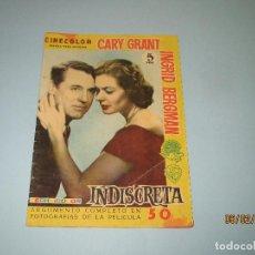 Cine: ANTIGUA REVISTA PARA MAYORES COLECCIÓN CINECOLOR CON CARY GRANT E INGRID BERGMAN - AÑO 1958. Lote 75310767