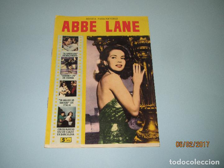 ANTIGUA REVISTA PARA MAYORES COLECCIÓN CINECOLOR CON ABBE LANE - AÑO 1958 (Cine - Revistas - Cinecolor)
