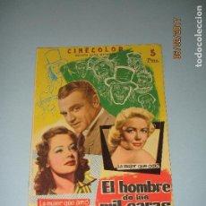 Cine: ANTIGUA REVISTA PARA MAYORES COLECCIÓN CINECOLOR CON EL HOMBRE DE LAS MIL CARAS - AÑO 1958. Lote 75318519