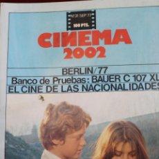 Cine: CINEMA 2002, Nº 31 1977, FESTIVAL DE BERLIN 77, EL CINE DE LAS NACIONALIDADES, CAMADA NEGRA.. Lote 75530411