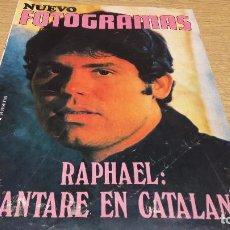 Cine: NUEVO FOTOGRAMAS Nº 1114. FEBRERO 1970 / RAPHAEL - CANTARÉ EN CATALÁN. BUENA CONSERVACIÓN.. Lote 75774595
