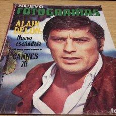 Cine: NUEVO FOTOGRAMAS Nº 1126. MAYO 1970. ALAIN DELON / ALFREDO MAYO / BEATLES / CANNES, ETC.... Lote 76022643