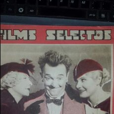 Cine: FILMS SELECTS. AÑO V 15 SEPTIEMBRE 1934- N° 205- CON LÀMINA SUPLEMENTO. Lote 155923002