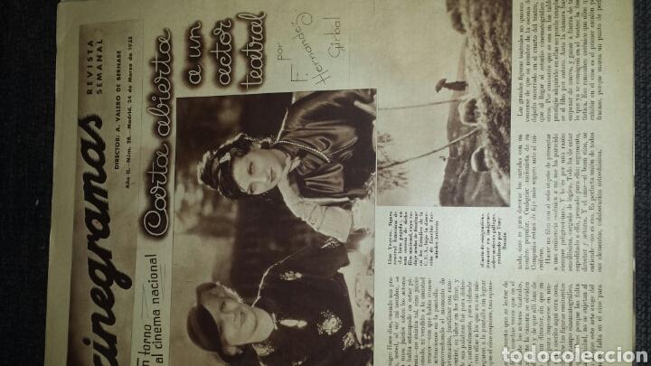 Cine: Cinegrama revista semanal año II número 28 24 de marzo 1935 Ida Lupino - Foto 2 - 76611401