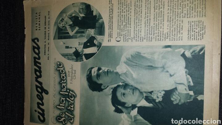Cine: Revista cinegramas año II número 38 2 de junio 1935 Rosita Díaz - Foto 2 - 76612125