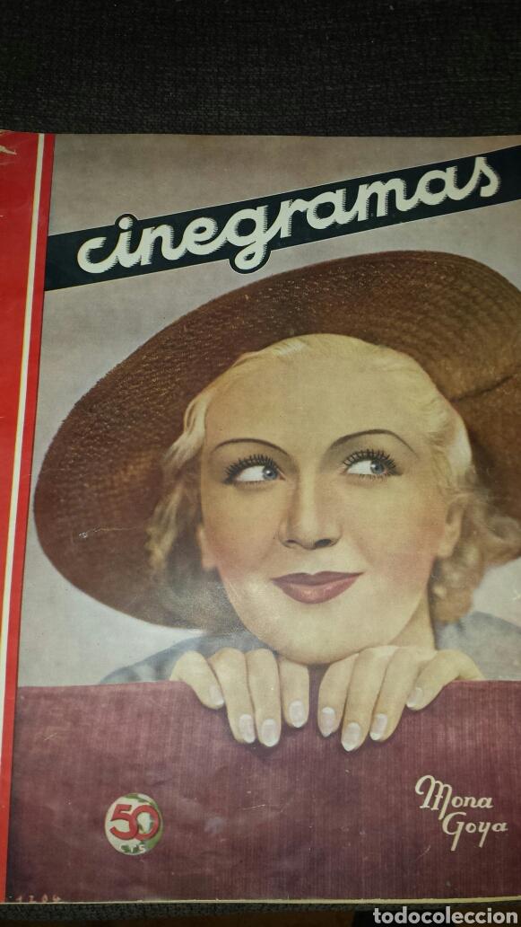 REVISTA CINEGRAMAS AÑO II NÚMERO 64 1 DICIEMBRE 1935 MONA GOYA (Cine - Revistas - Cinegramas)