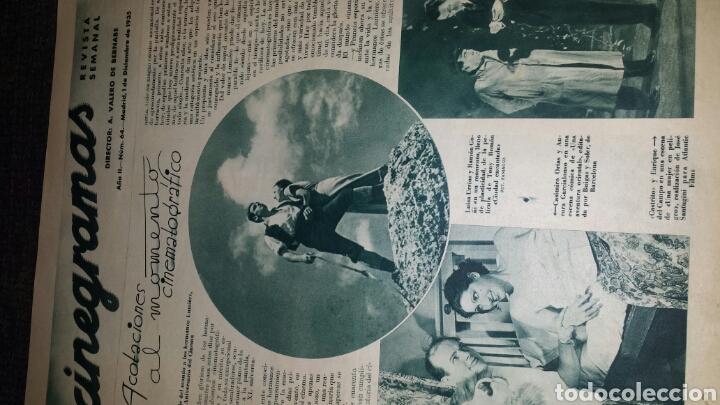 Cine: Revista cinegramas año II número 64 1 diciembre 1935 mona Goya - Foto 2 - 76613207