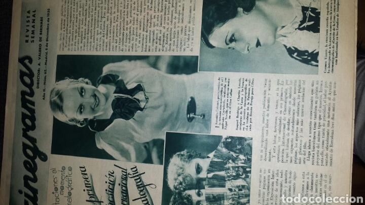 Cine: Revista cinegramas año II número 65 8 diciembre 1935 Getrude Michel - Foto 2 - 76613657