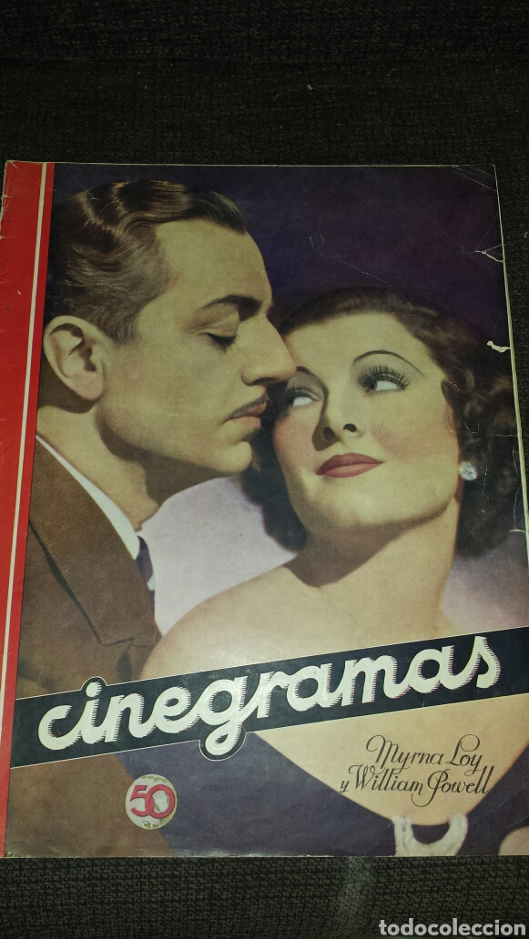 REVISTA CINEGRAMAS AÑO II NÚMERO 68 29 DICIEMBRE 1935 MYRNA LOY Y WILLIAM POWELL (Cine - Revistas - Cinegramas)