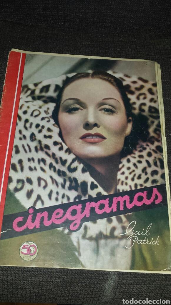 REVISTA CINEGRAMAS AÑO III NÚMERO 70 12 ENERO 1936 GAIL PATRICK (Cine - Revistas - Cinegramas)
