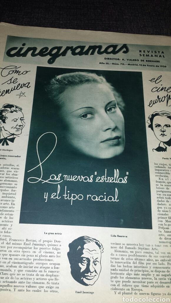Cine: Revista cinegramas año III número 70 12 enero 1936 Gail Patrick - Foto 2 - 76615883