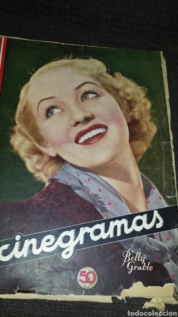 REVISTA CINEGRAMAS AÑOS SEGUNDO NÚMERO 56 6 DE OCTUBRE 1935 BETTY GRABLE (Cine - Revistas - Cinegramas)