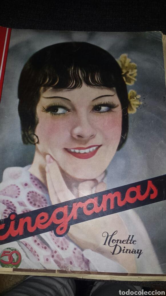 REVISTA CINEGRAMAS AÑO 1936. MONETTE DINAY (Cine - Revistas - Cinegramas)
