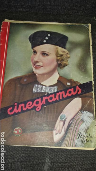 REVISTA CINEGRAMAS AÑO II NÚMERO 38 2 DE JUNIO 1935 ROSITA DÍAZ (Cine - Revistas - Cinegramas)